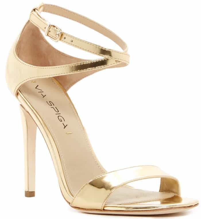 Via Spiga Tiara Metallic Heel Sandals
