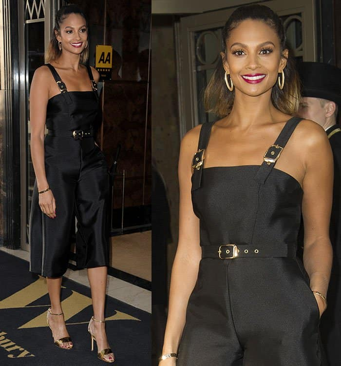 alesha-dixon-little-black-dress-cropped-jumpsuit