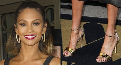 9a495e58e65 Alesha Dixon Launches New Clothing Collection in Gold Heels
