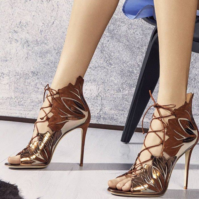 Casadei Leather Lace-Up Sandals