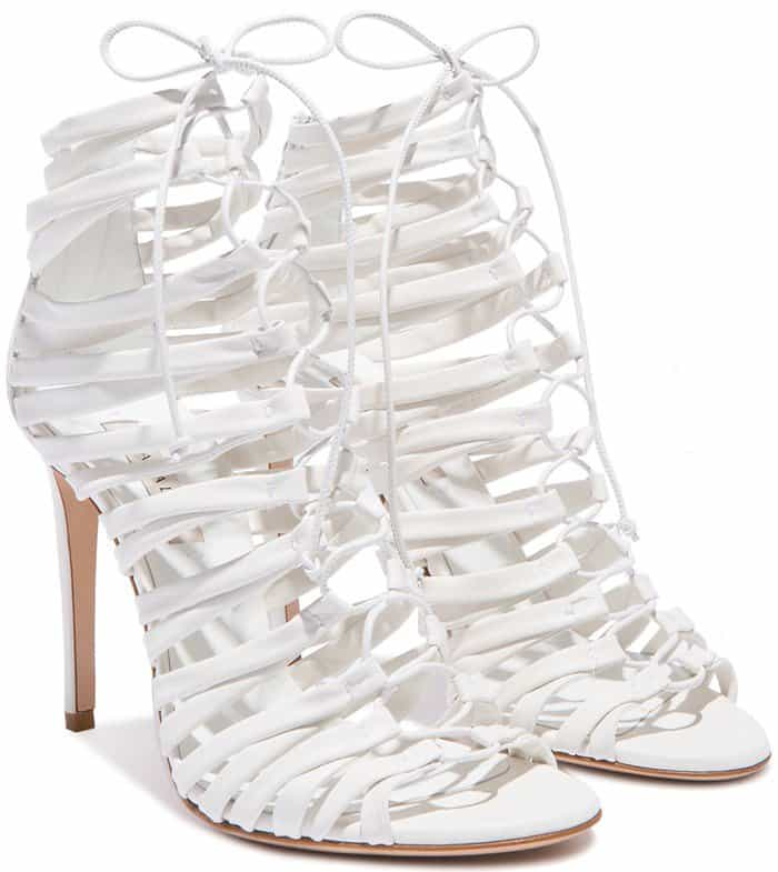 Casadei Timeless Lace-Up Sandals