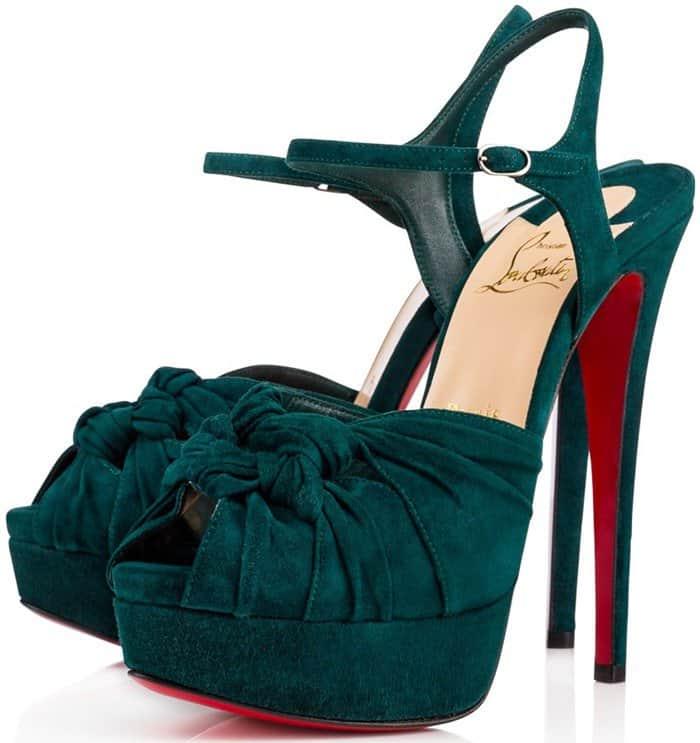 Ionescadiva 150 Knotted Suede Platform Sandals