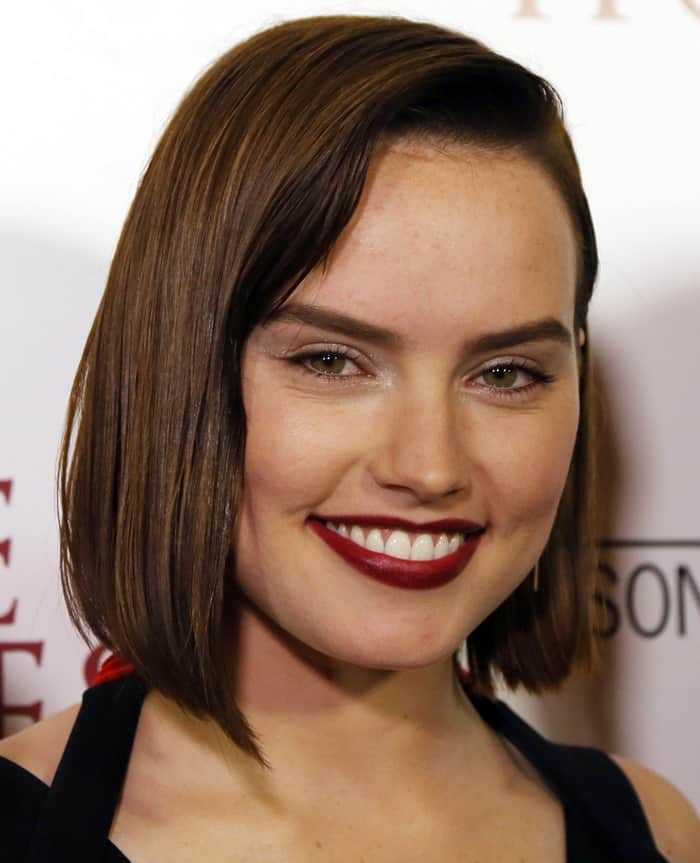 Daisy Ridley at the premiere of the documentary 'The Eagle Huntress' held at Pacific Theaters at the Grove in Los Angeles on October 18, 2016