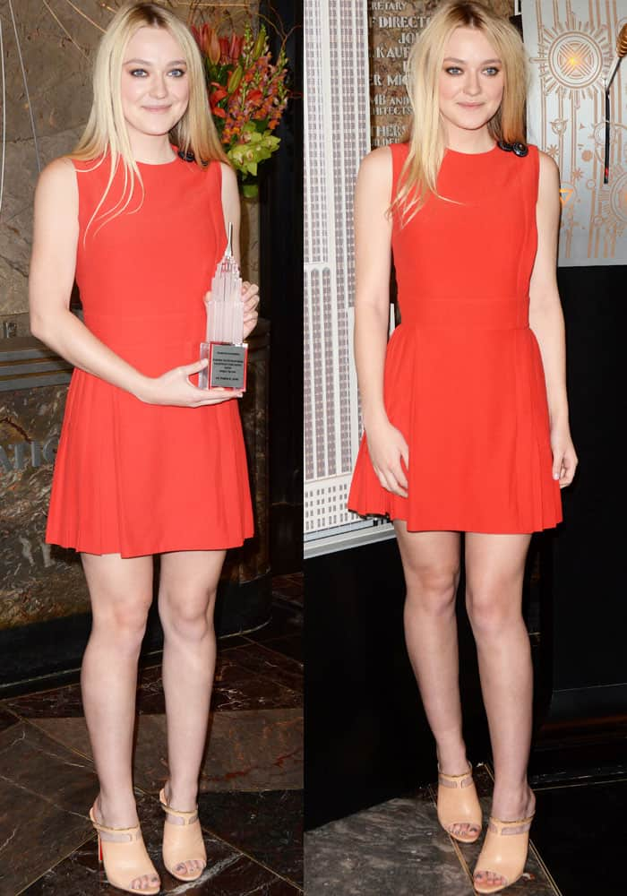 """Dakota Fanning lights the Empire State Building in honor of the """"International Day of the Girl"""""""