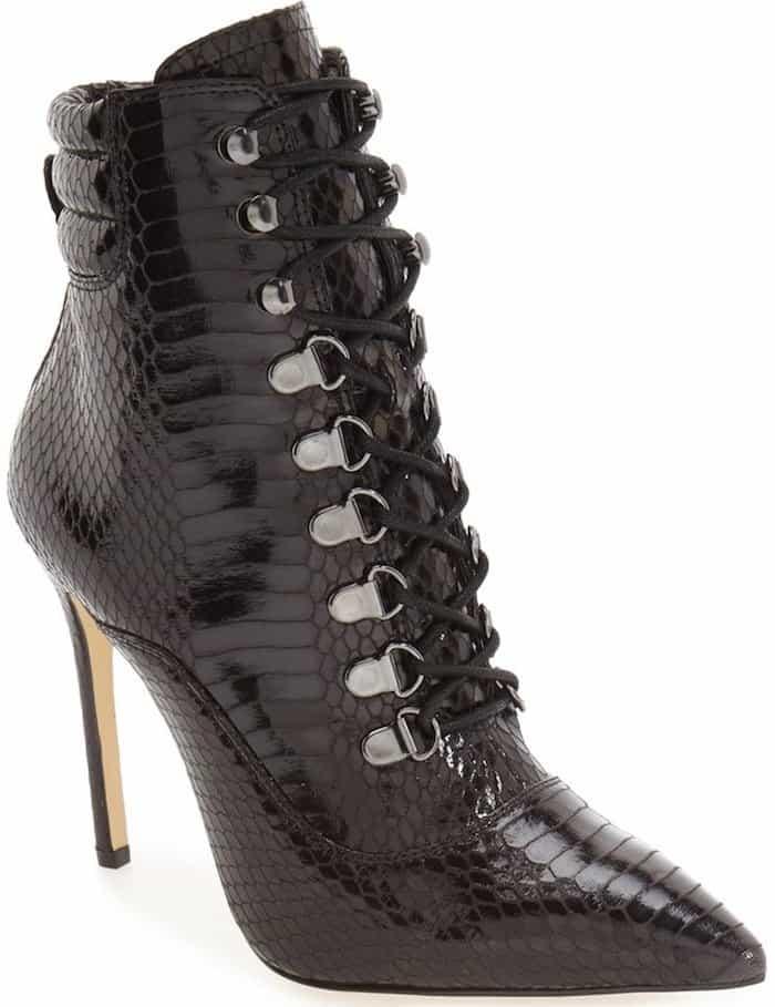 """Daya by Zendaya """"Kettle"""" Corset Lace Pointy Toe Boot"""