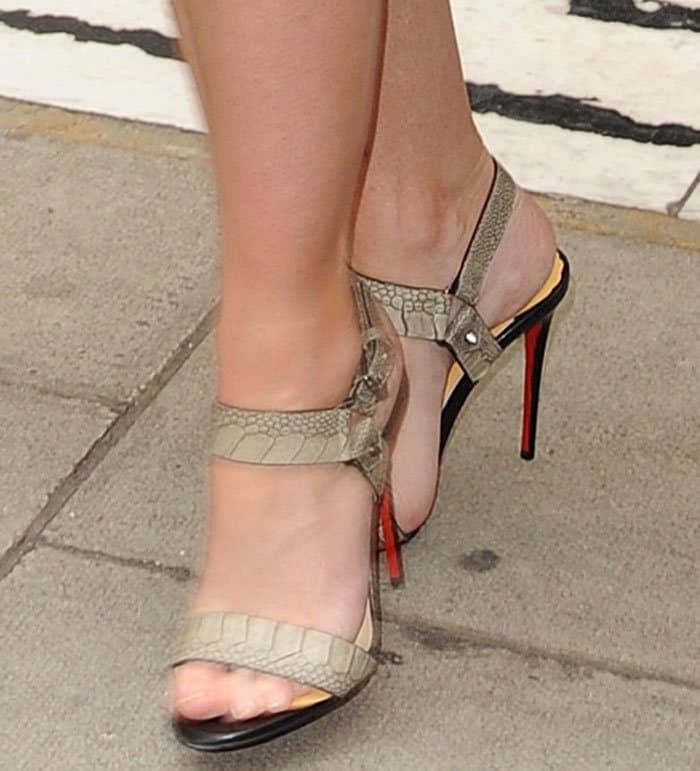 Emily Blunt wearing Christian LouboutinSova heels