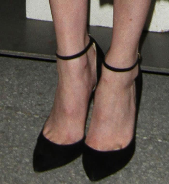 emma-roberts-jimmy-choo-lucy-black-suede-pumps