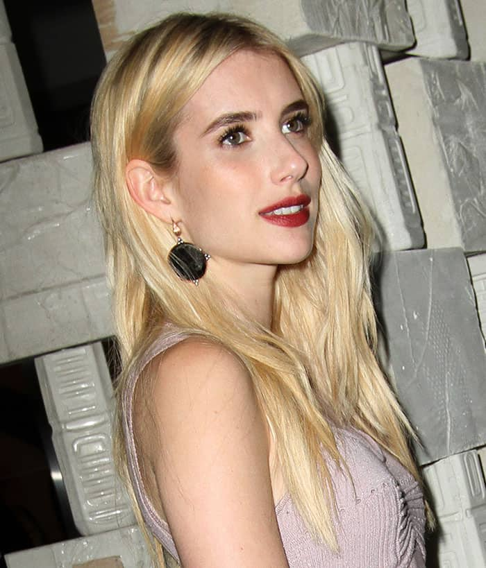 emma-roberts-earrings-red-lipstick