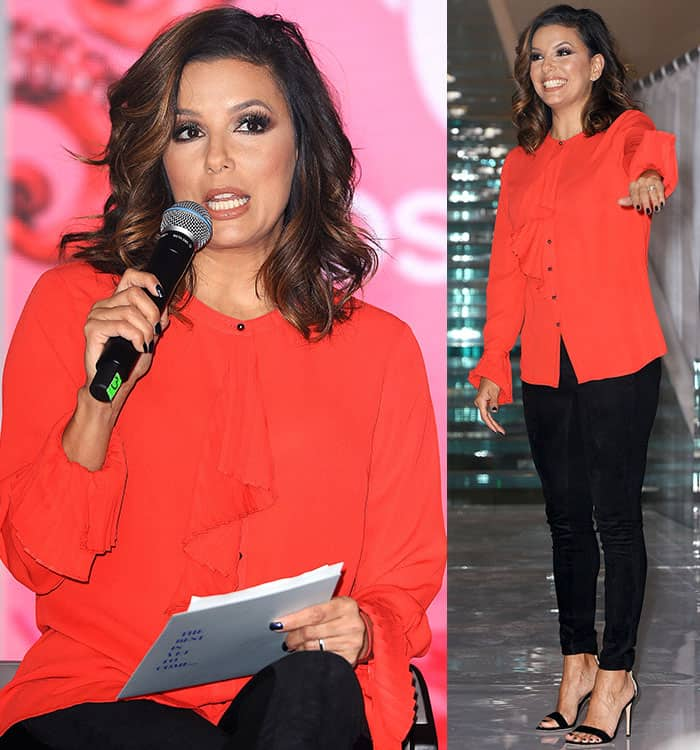 eva-longoria-the-limited-red-blouse