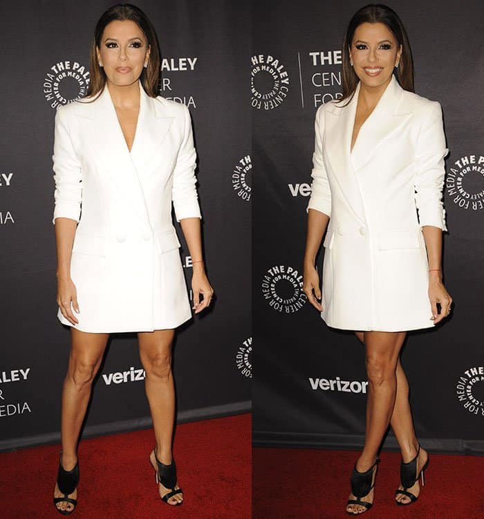eva-longoria-legs-white-blazer-dress