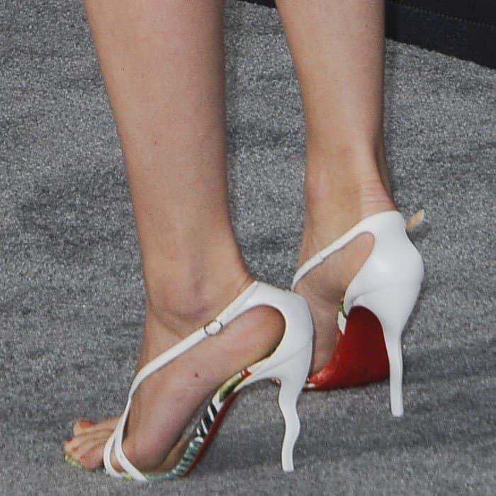 Faye Elaine Marsay wearing Christian Louboutin Olala sandals