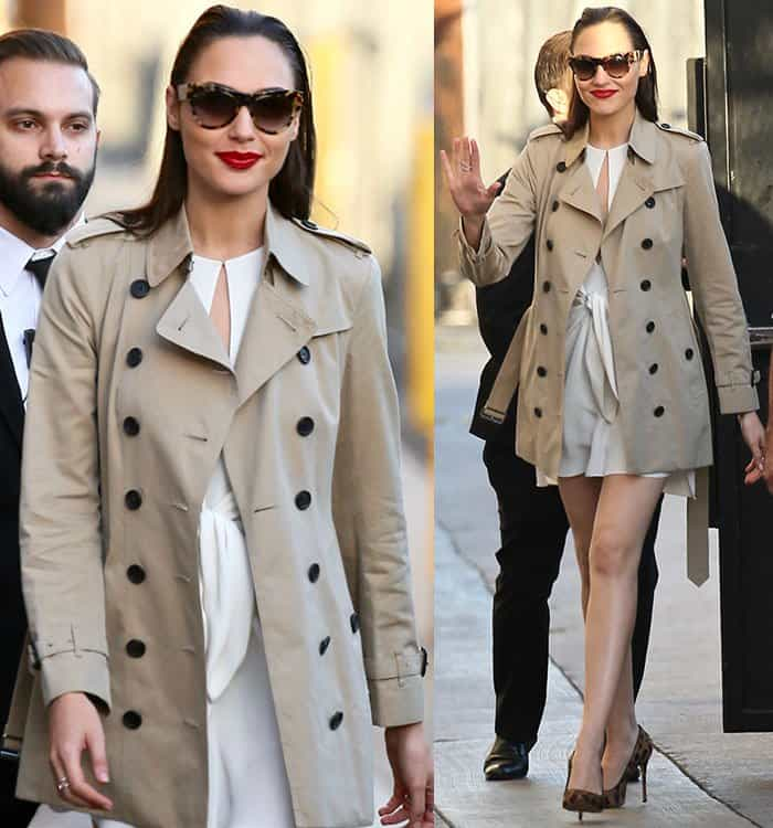 gal-gadot-cutout-white-dress-burberry-coat