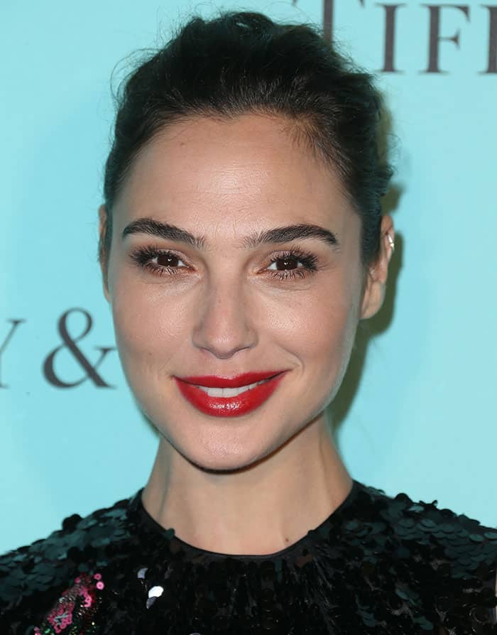 Gal Gadot's bright red lips