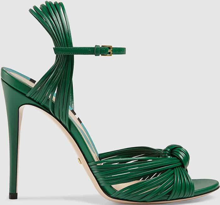 gucci-allie-green-leather-sandals