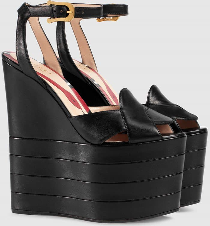 gucci-quilted-suede-wedge-sandals-black-leather