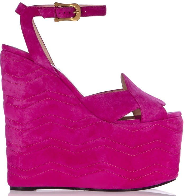 gucci-quilted-suede-wedge-sandals-hot-pink