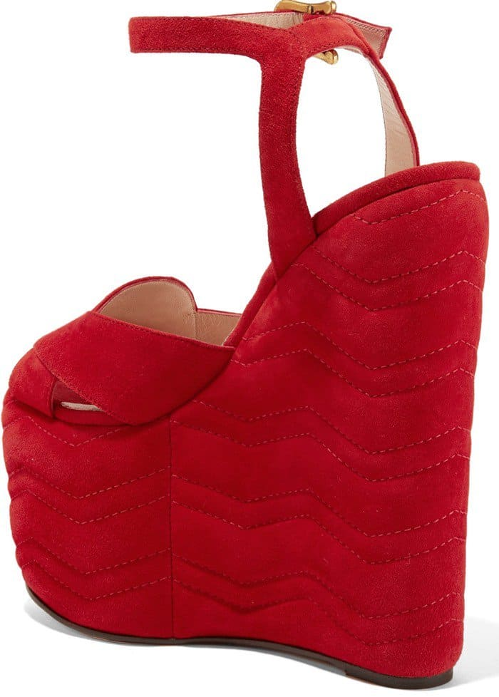 gucci-quilted-suede-wedge-sandals-red
