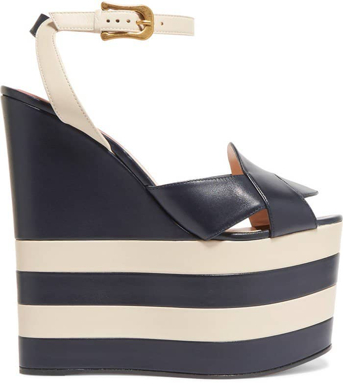 gucci-two-tone-leather-wedge-sandals