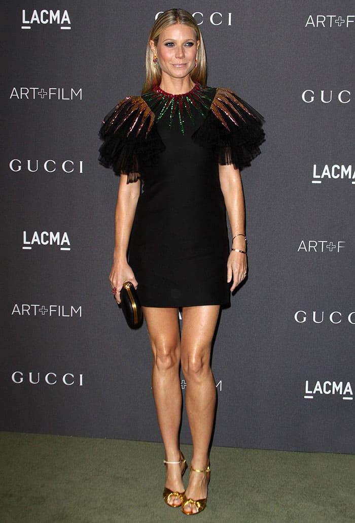 Gwyneth Paltrow in Festive Gucci LBD