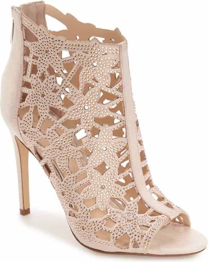 Jessica Simpson 'Gessina' Studded Laser Cut Booties