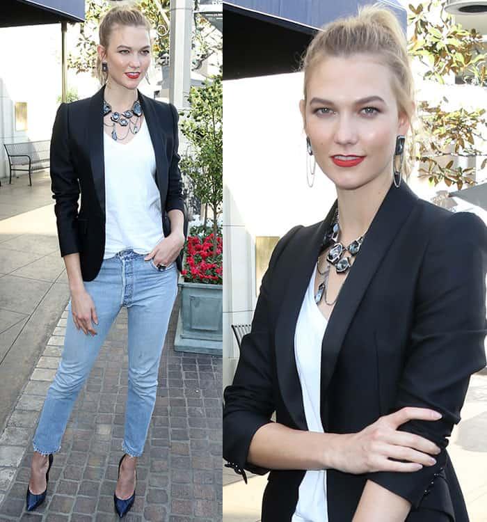 karlie-kloss-white-tee-jeans-swarovski-jewelry