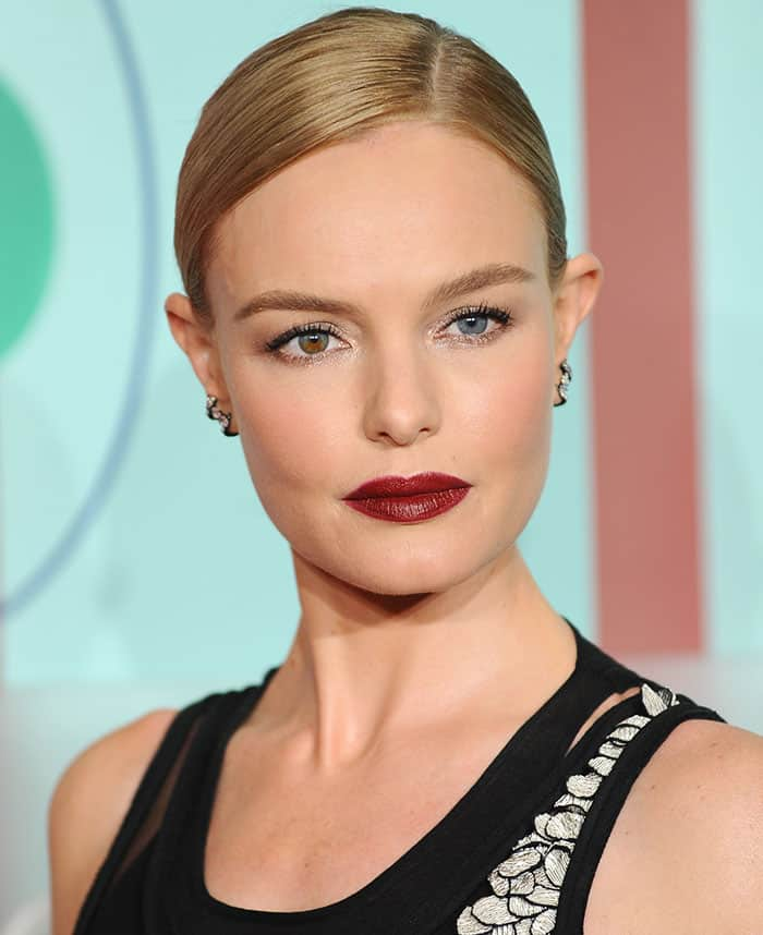 kate-bosworth-side-parted-bun-red-lipstick