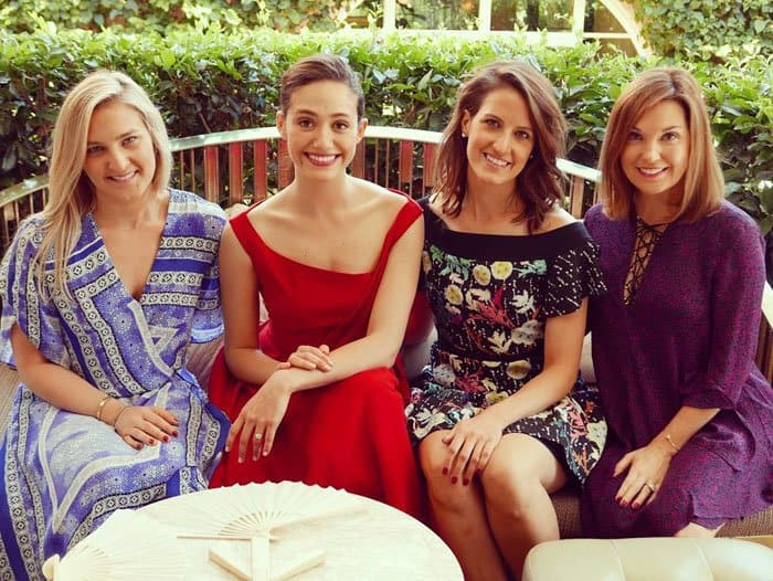 Emmy Rossum photographed at her bridal shower around the same time Kate wore her dress