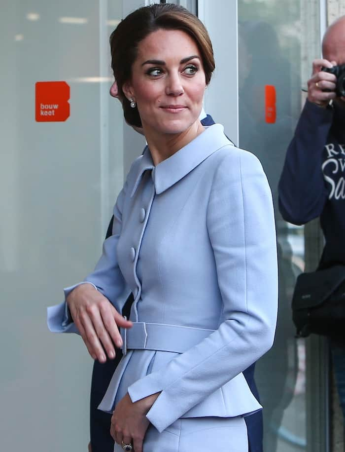 Kate Middleton arriving in the Netherlands to start her first solo trip abroad