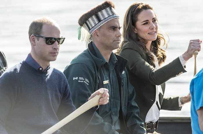 The Duchess of Cambridge rowed her way to Haida Gwaii in R. Soles Virgi Ante Setter boots on September 29, 2016