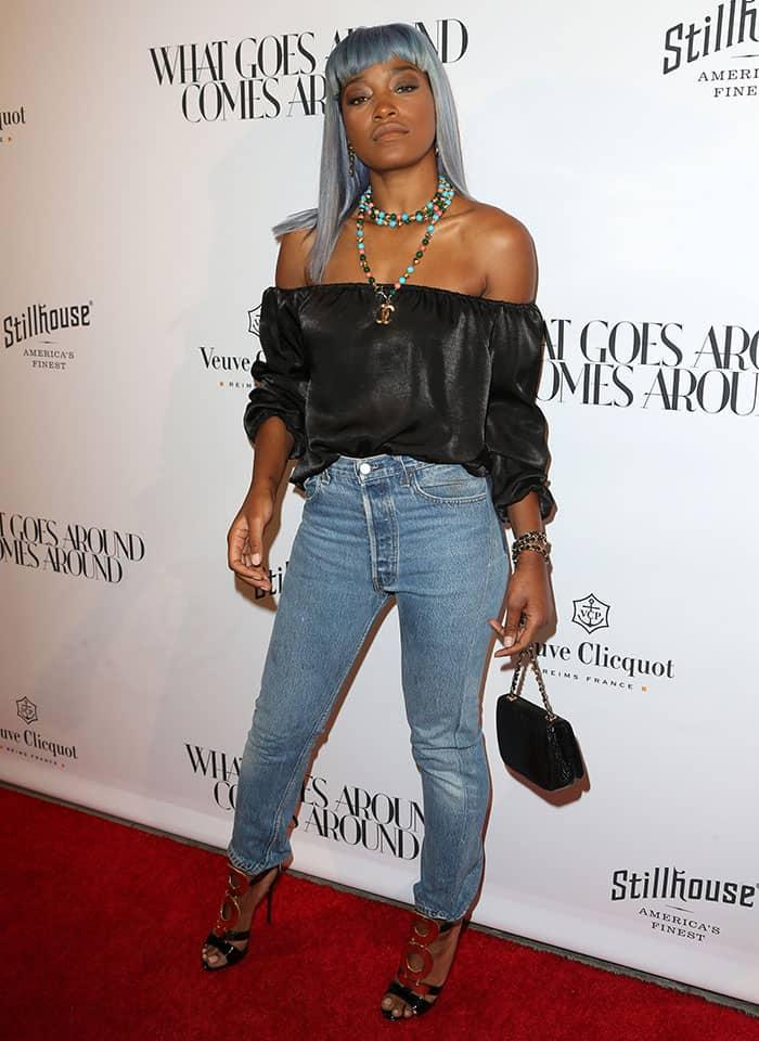 keke-palmer-off-shoulder-top-high-waist-jeans