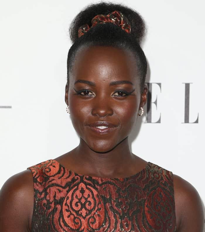 Lupita Nyong'o wore a dress from Duro Olowu, a Nigerian-born, London-based fashion designer