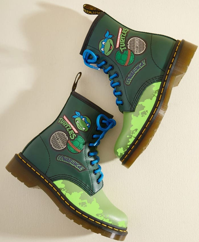Dr. Martens 'More Turtle Power to You' Leather Boots