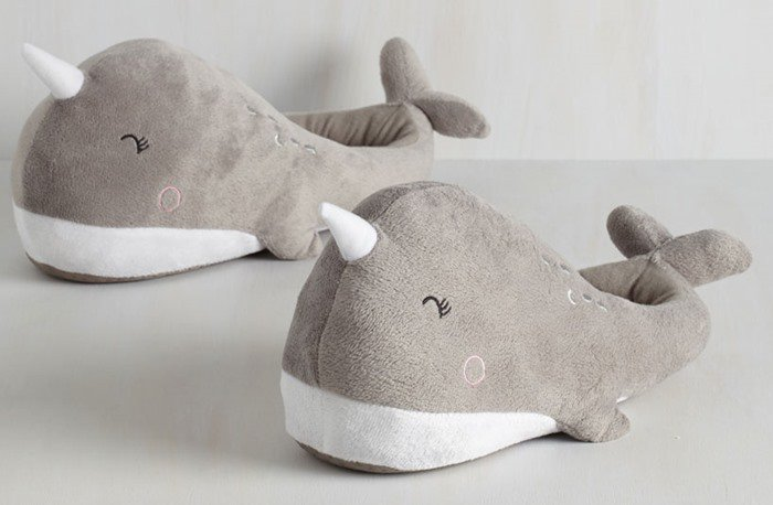 Narwhal USB Heated Footwarmers Slippers