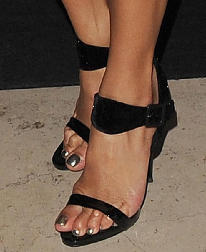 Nicole Scherzinger In Jitrois Dress And Giuseppe Zanotti