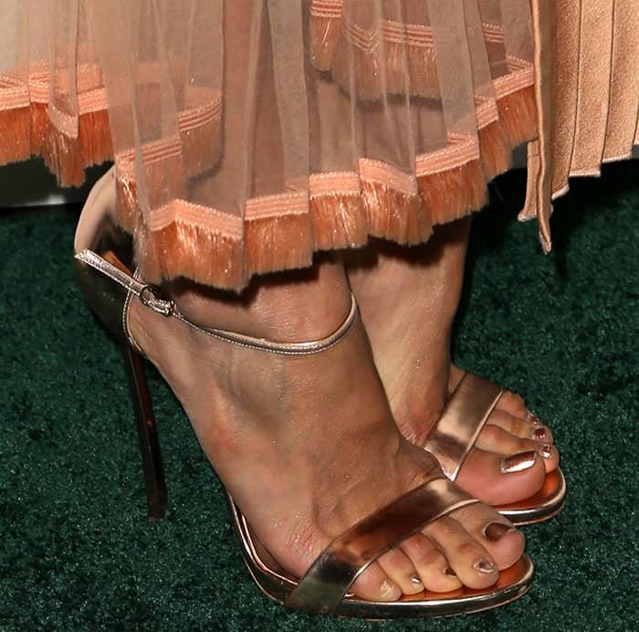 nina-dobrev-casadei-metallic-sandals