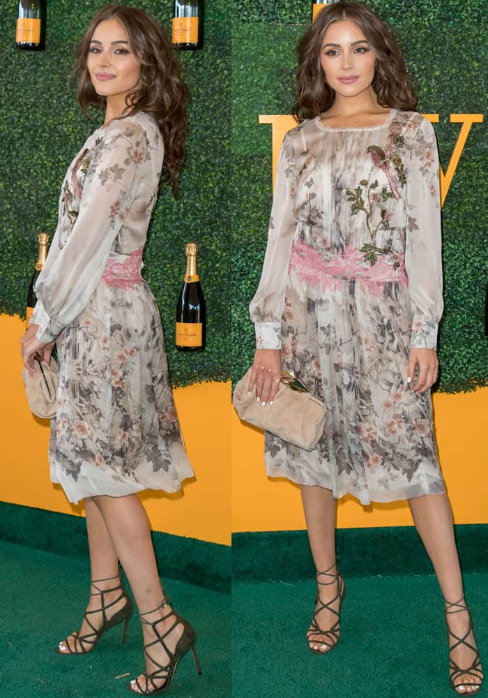 Olivia is stunning as always at the 7th Veuve Clicquot Polo Classic in an Alberta Ferretti dress