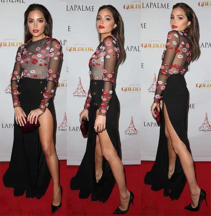 Olivia Culpo in Zuhair Murad for the Fall Issue Release Party of LaPalme Magazine