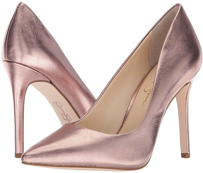 Garner compliments for your trendsetting look with these pointed-toe pumps
