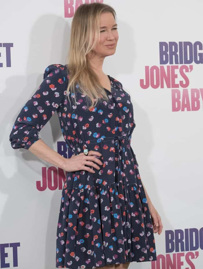 Renee Zellweger donned a casual floral dress