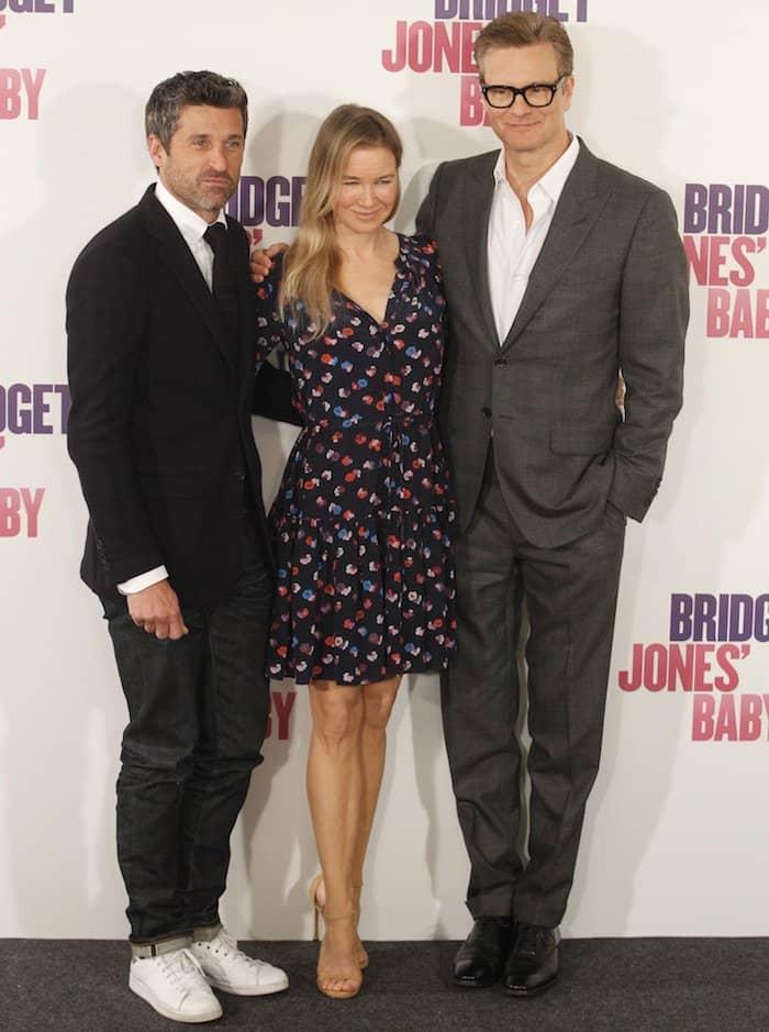 "Patrick Dempsey, Renee Zellweger and Colin Firth promoting ""Bridget Jones' Baby"" in Madrid"