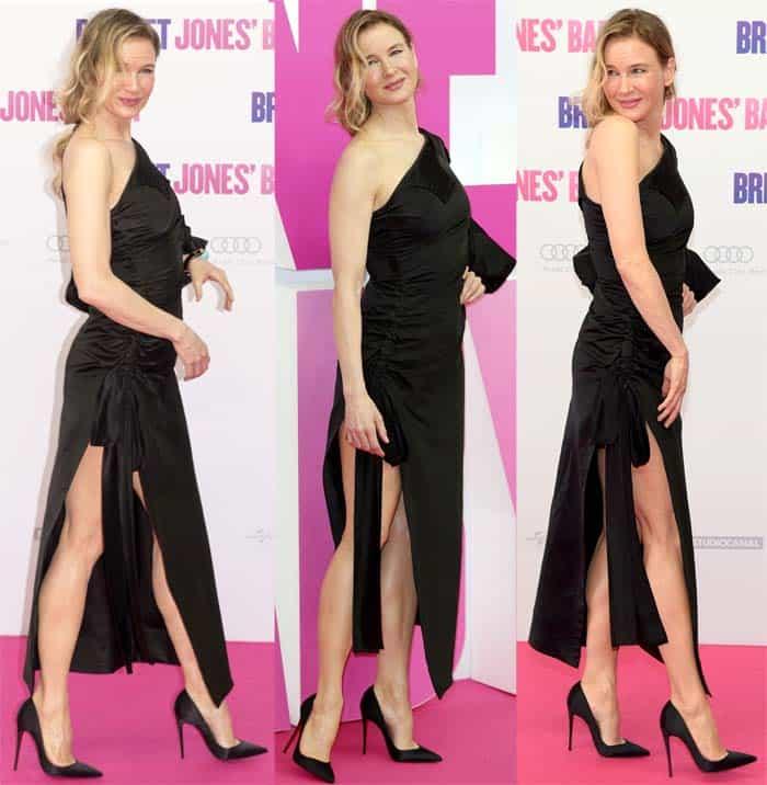 """Renee Zellweger flaunts her legs at the German premiere of """"Bridget Jones' Baby"""""""