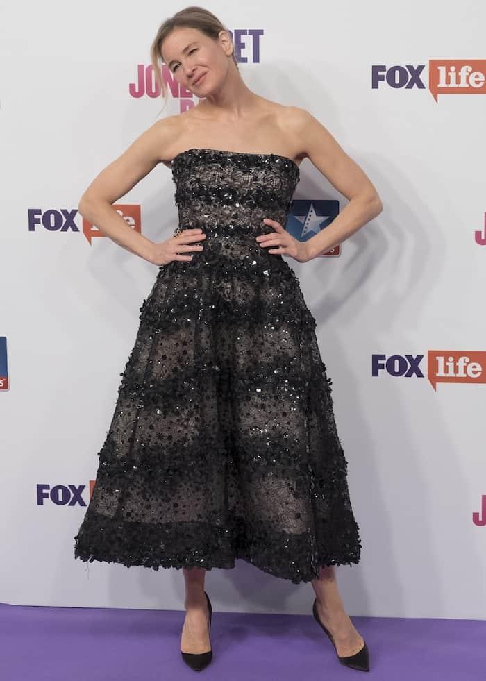 """Renee Zellweger at the Madrid premiere of """"Bridget Jones' Baby"""""""
