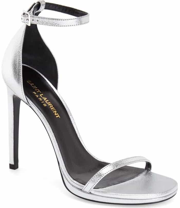 Saint Laurent 'Jane' Ankle-Strap Sandals