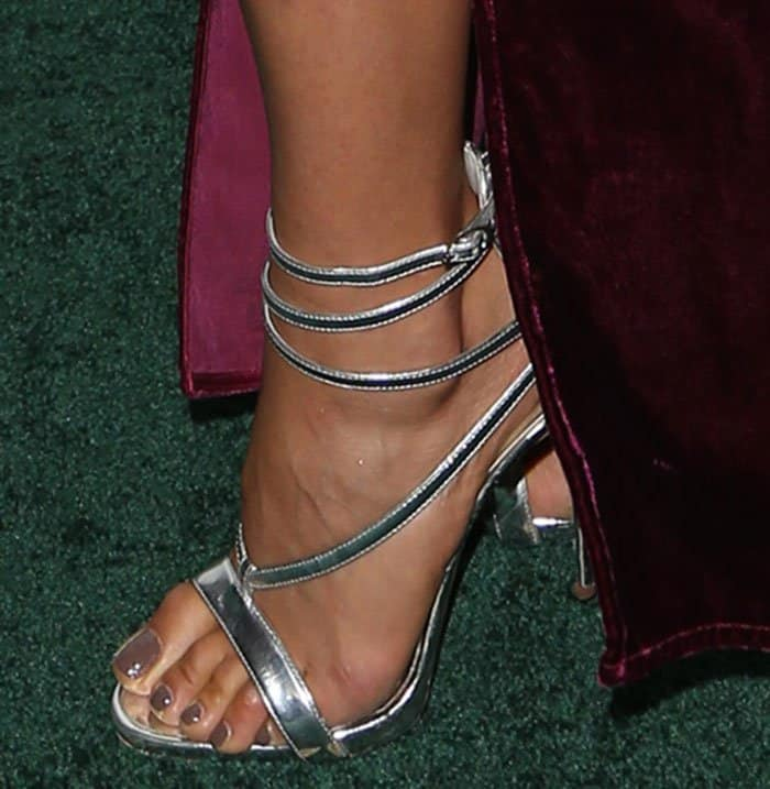 Shay Mitchell in Giuseppe Zanotti sandals