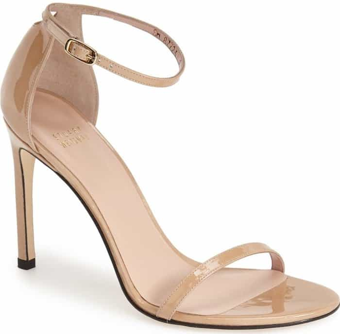 Stuart Weitzman 'Nudistsong' Ankle Strap Sandals
