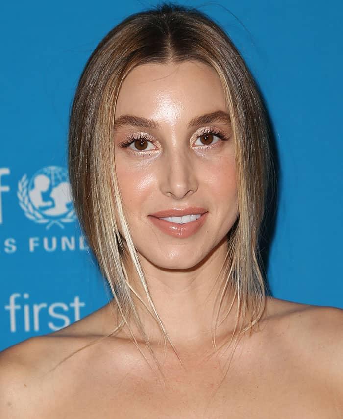 whitney-port-ponytail-metallic-eyeshadow