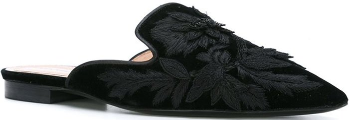 Alberta Ferretti embroidered slip-on mules