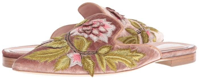 Alberta Ferretti embroidered slip-on mules