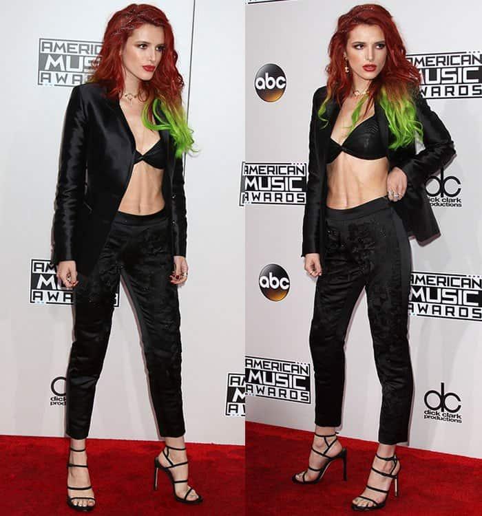 bella-thorne-cleavage-stomach-bra-top-pants