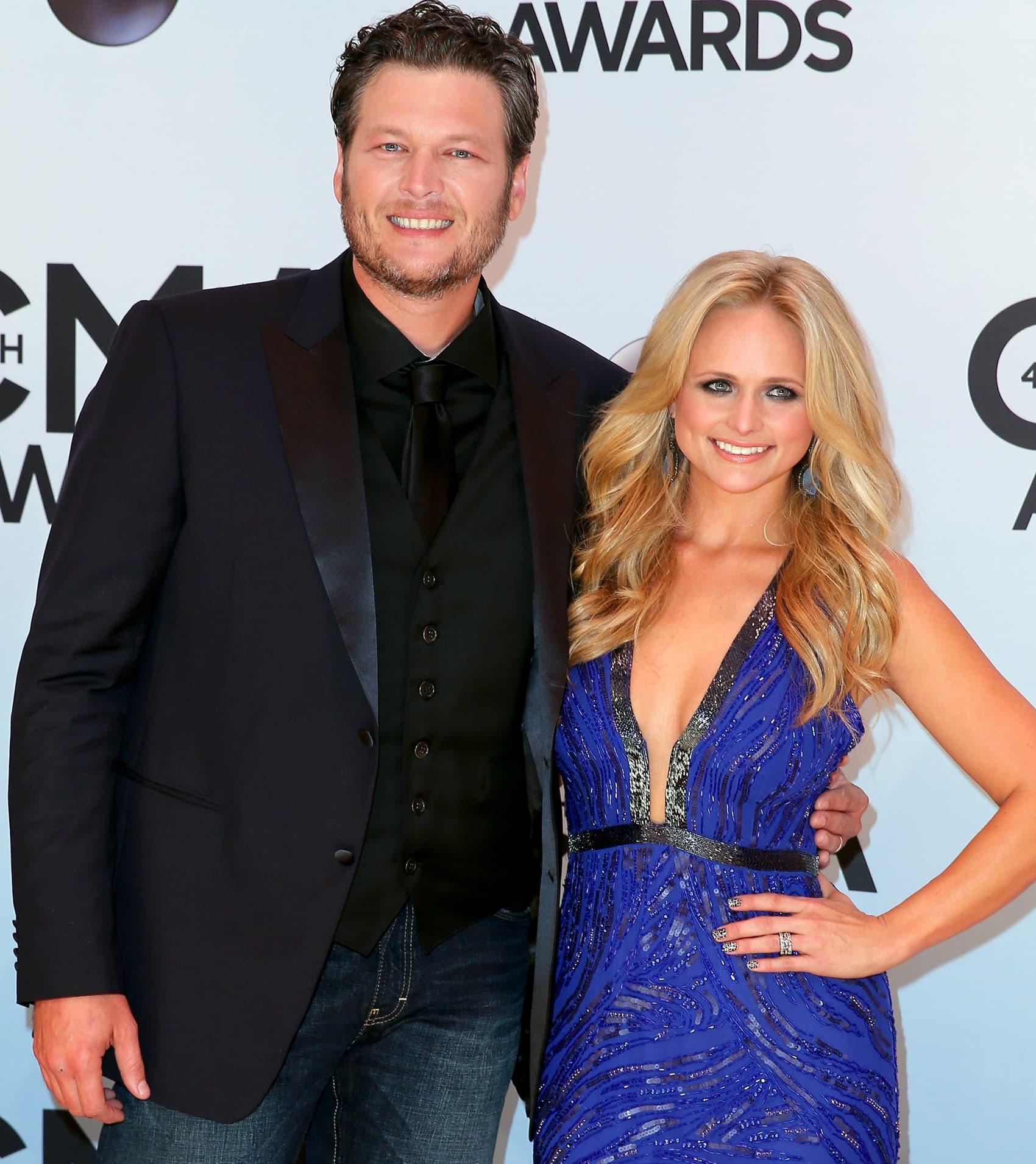 Blake Shelton and Miranda Lambert attend the 47th annual CMA Awards